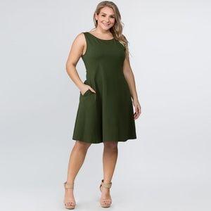 Dresses & Skirts - Olive A-Line Dress XL-3XL